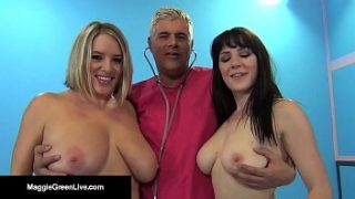busty blonde maggie green and uk samantha bentley get fucked