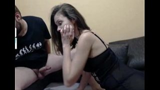 Nerd received blowjob from girlfriend live on 88camsfree.com